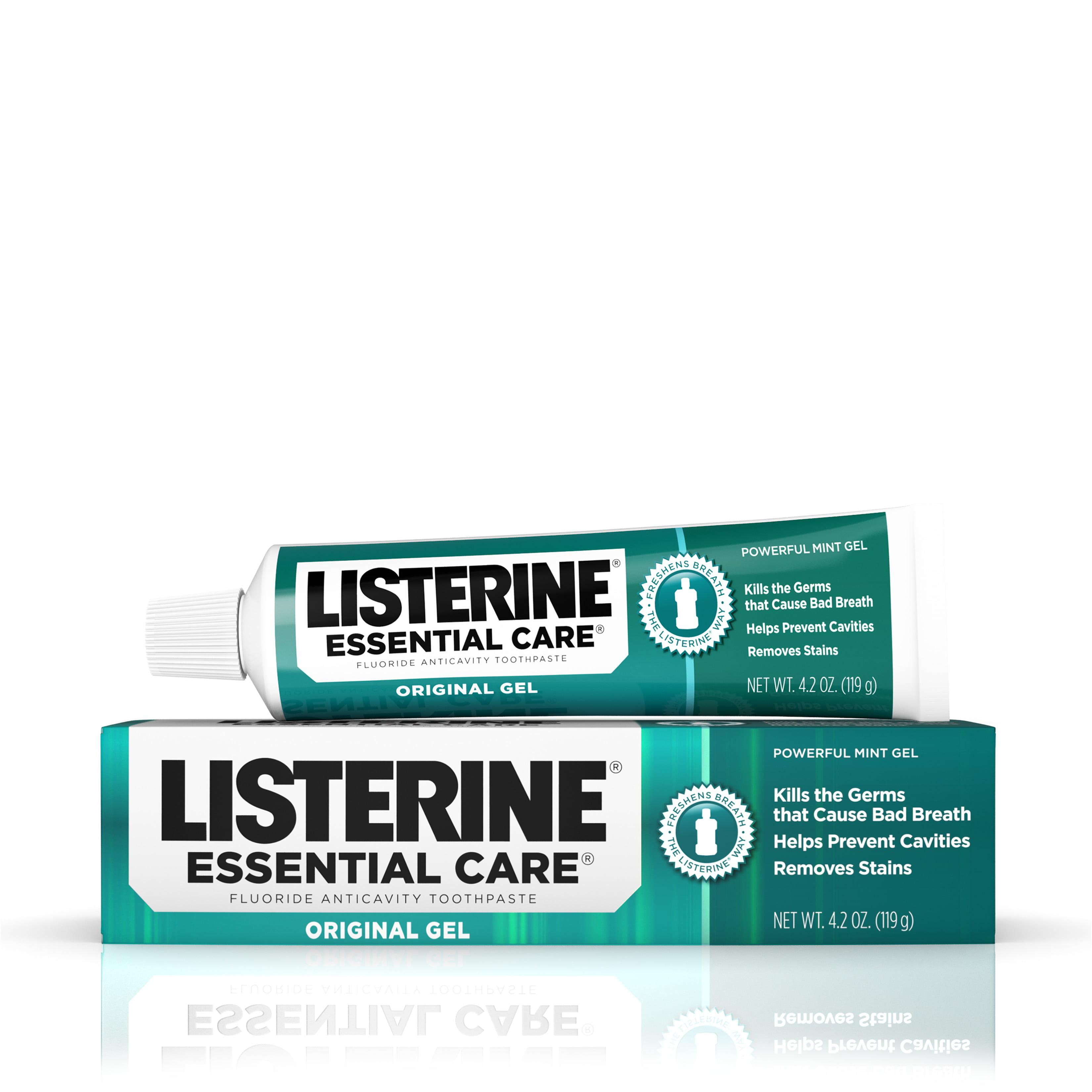 Listerine Essential Care Original Gel Fluoride Toothpaste, 4.2 oz