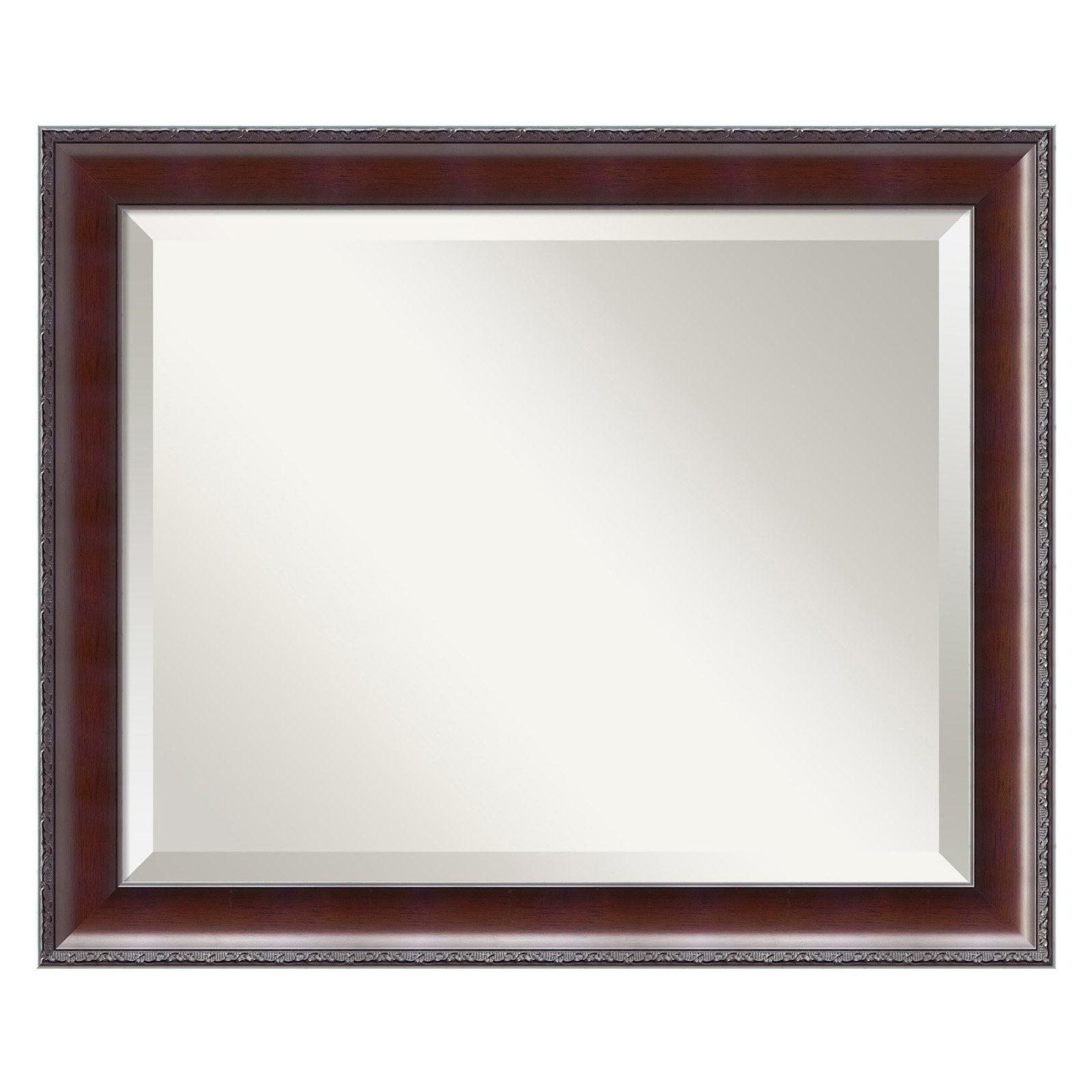 Country Walnut Wall Mirror - 23W x 20H in.