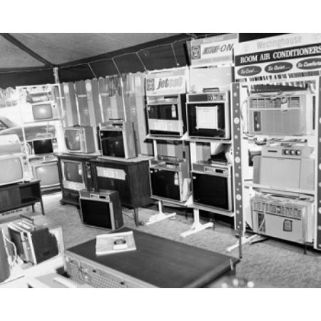 Home Appliances In An Electronics Store Canvas Art     24 X 36