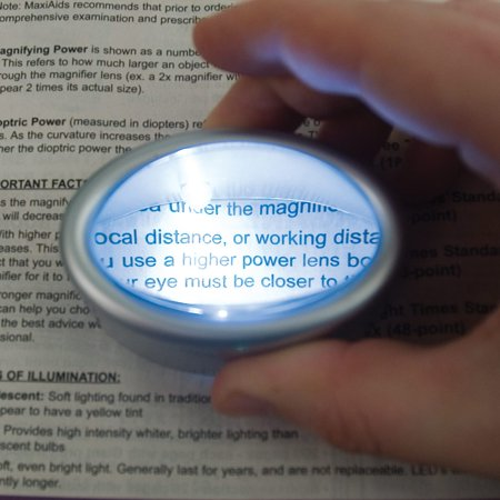 LED Lighted Oval Dome Magnifier - 6x
