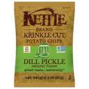 Kettle Brand, Potato Chips, Dill Pickle, Pack of 24, Size - 2 OZ, Quantity - 1