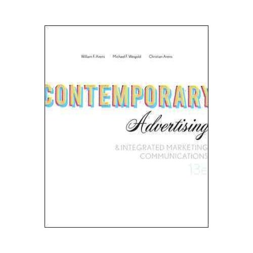 Contemporary Advertising & Integrated Marketing Communications
