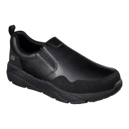 Skechers for Work Men's Resterly Work Shoe, Black, 9 M US