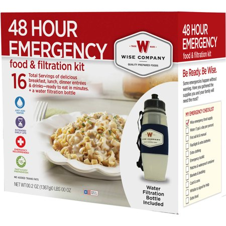 Wise 48 Hour Emergency Food & Walter Filtration Kit, 5