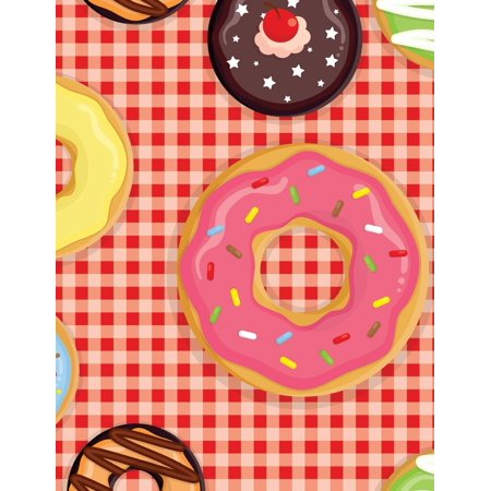 Yummy Donut - Blank Book Journal: Yummy Doughnut Diary Notebook: 8.5 X 11 Size 120 Lined Pages! (Paperback)