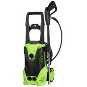 2200 PSI Electric Pressure Washer 1800W Rolling Wheels High Pressure Professional Washer Cleaner Machine with 5 Quick-Connect Spray Tips