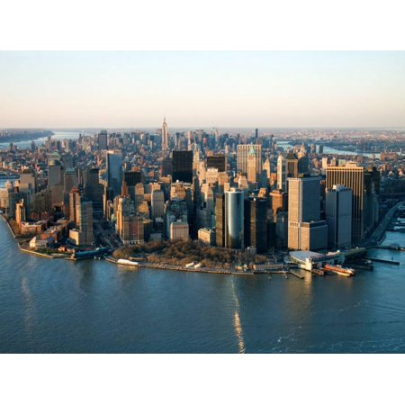Aerial View of Buildings and High Rises in New York City, New York Print Wall Art
