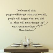 Belvedere Designs LLC People Will Never Forget The Way You Made Them Feel Wall Quotes  Decal