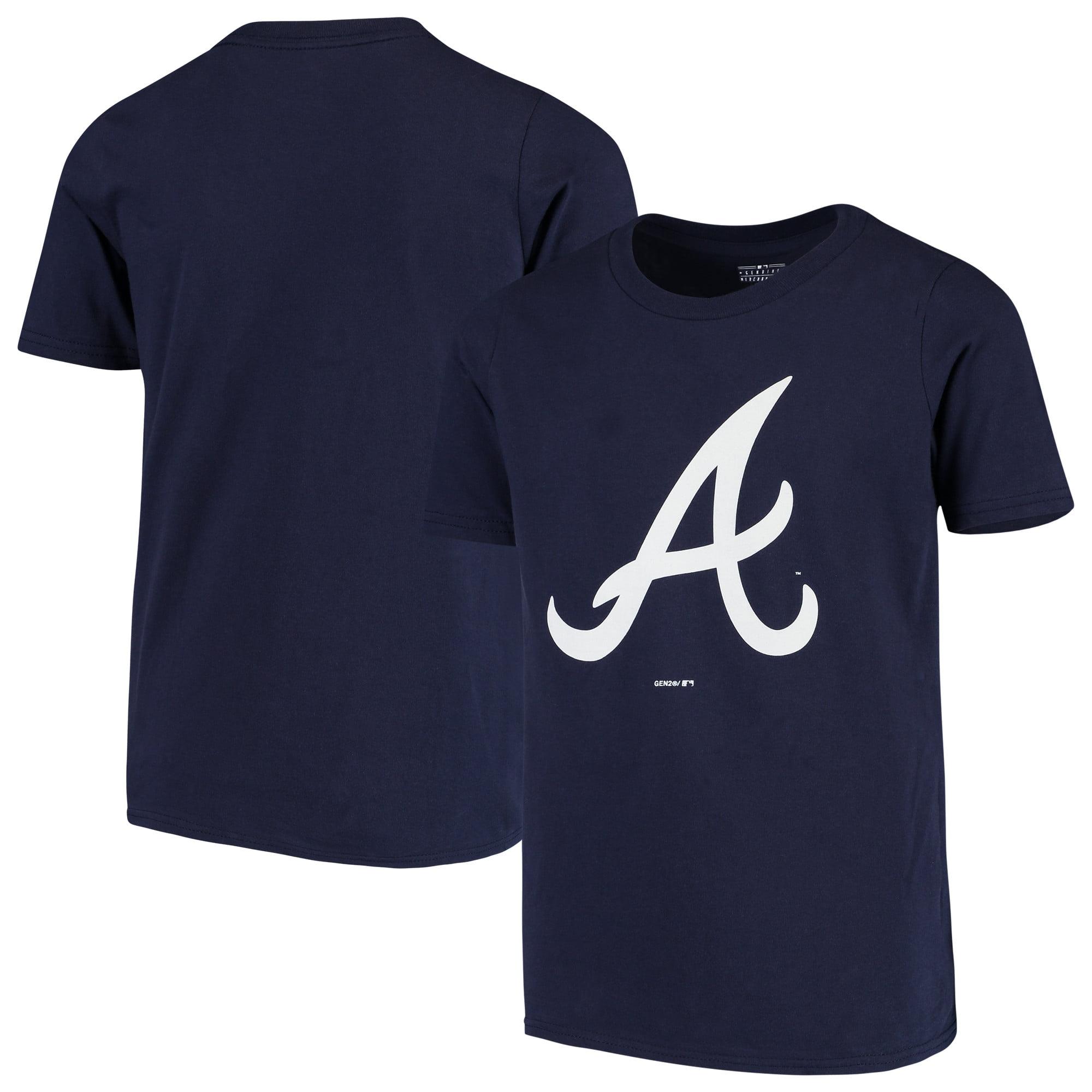 Atlanta Braves Youth Primary Team Logo T-Shirt - Navy