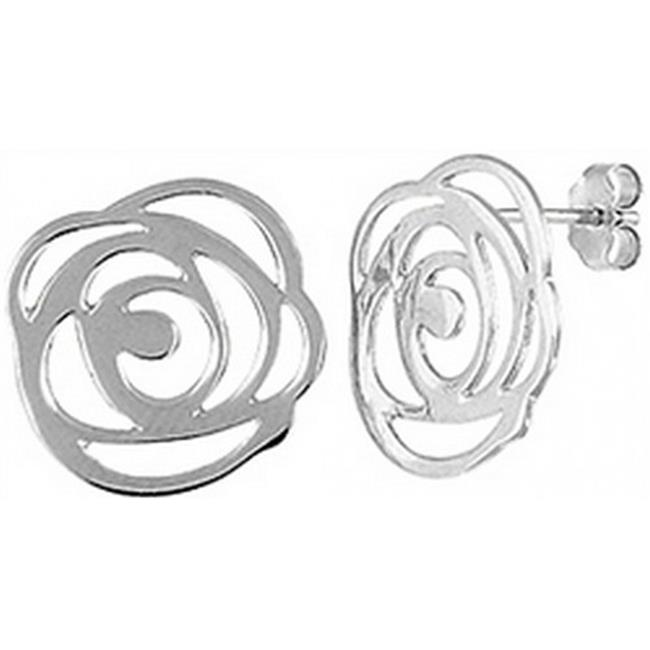 Doma Jewellery DJS02508 Sterling Silver (Rhodium Plated) Plain Earring