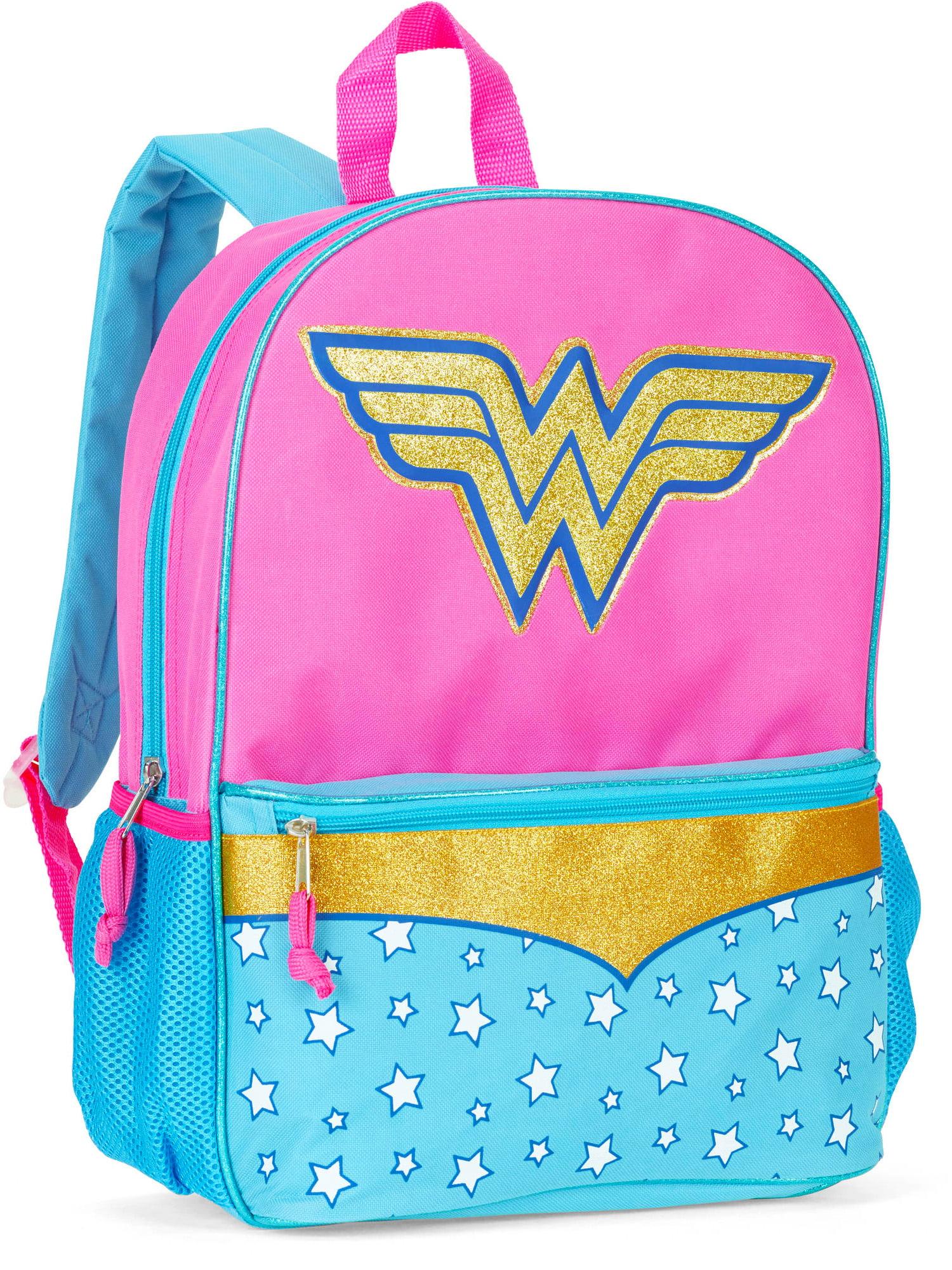 2e557fe6b4de DC Superhero Girls Wonder Woman Backpack with Glitter 16