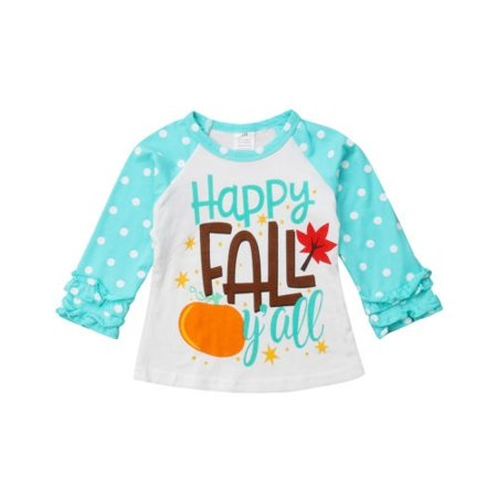 Goodlook Kids Baby Boy Girl Halloween Cotton Long Sleeve Letter Print T-shirt Tops Shirts Clothes Outfit Carajean - Top Baby Games No Halloween