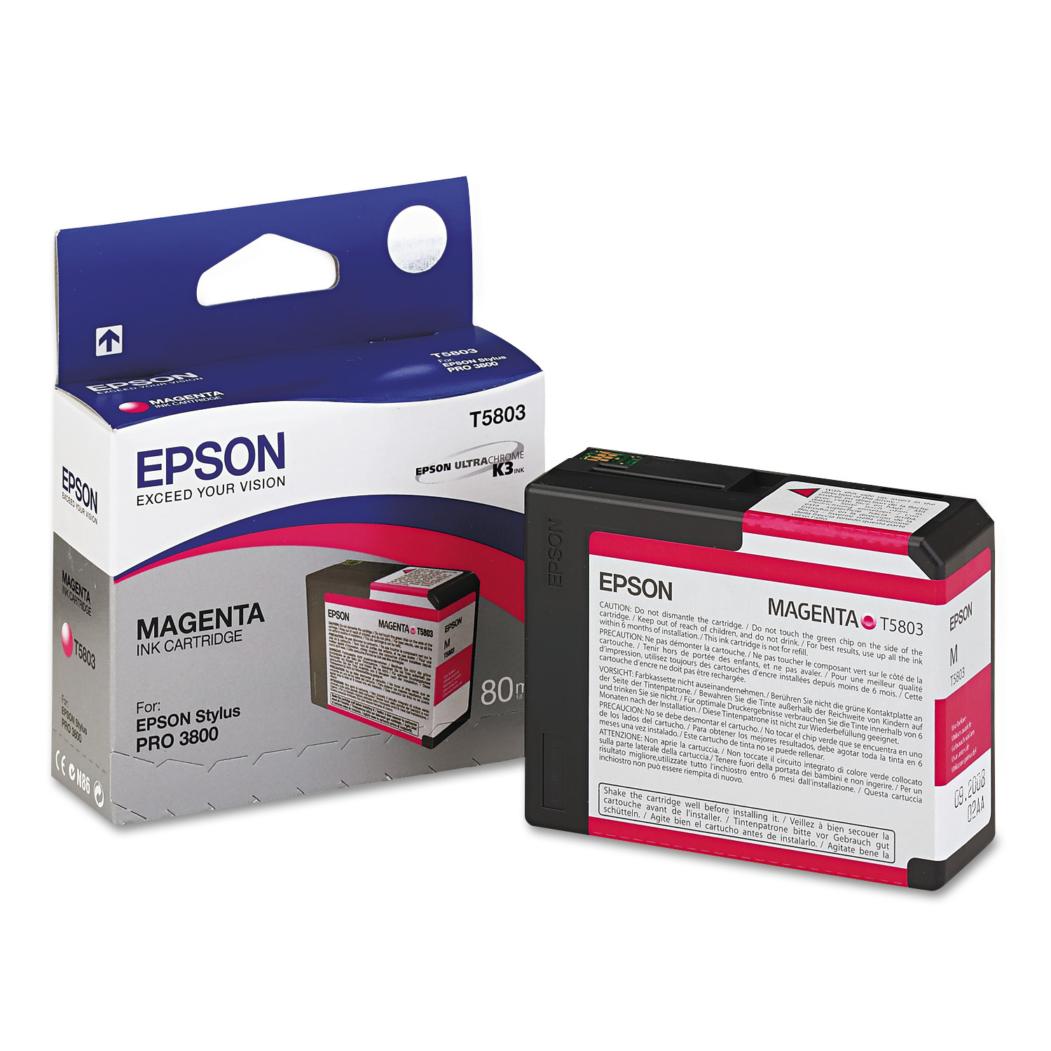 Epson T580300 UltraChrome K3 Ink, Magenta by Epson