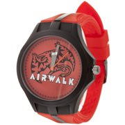 Men's Dragon Face Watch, Red Silicone Band