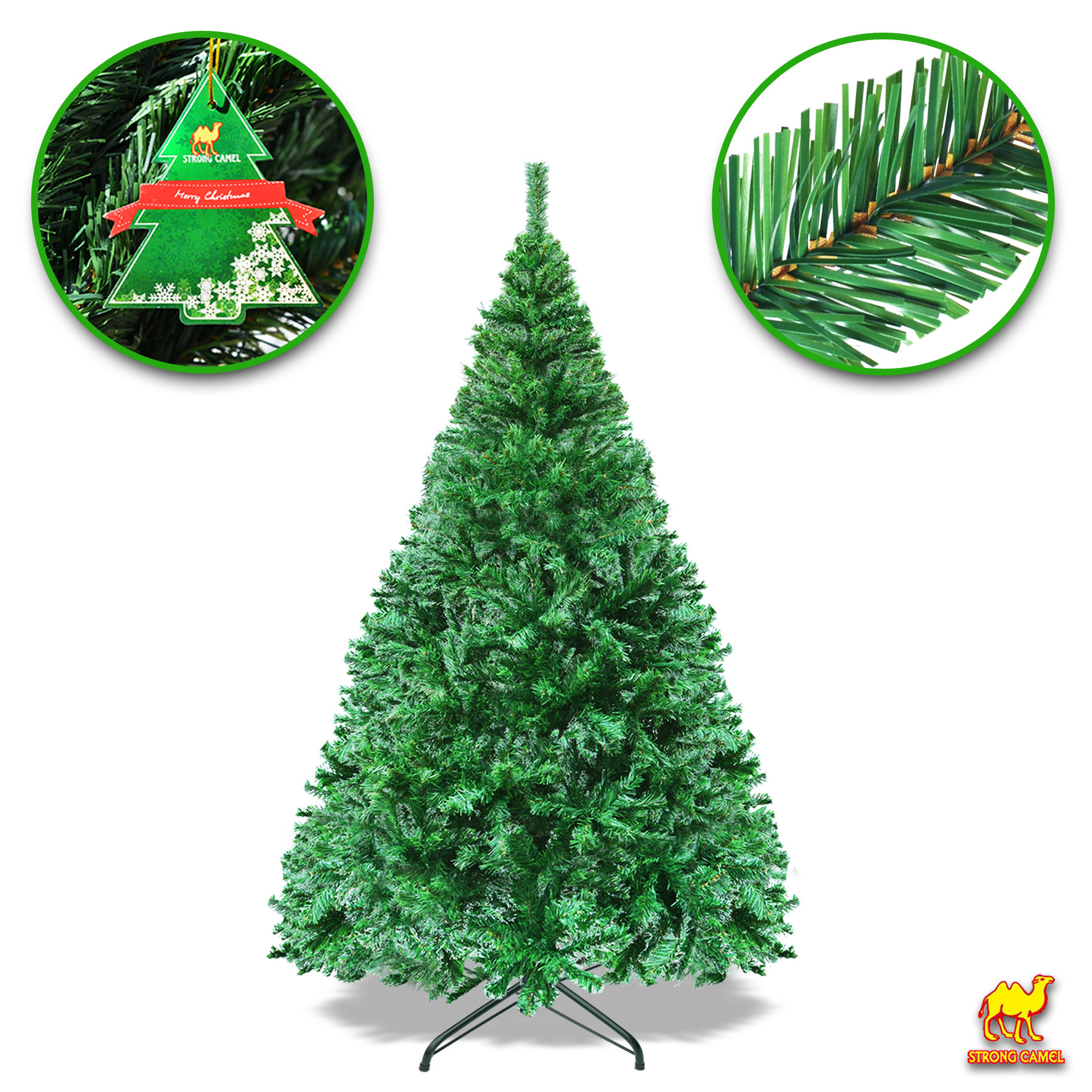 6FT Artificial Christmas Tree W/ Steel Stand--Green