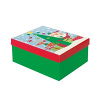 Colorful Santa Christmas Gift Box