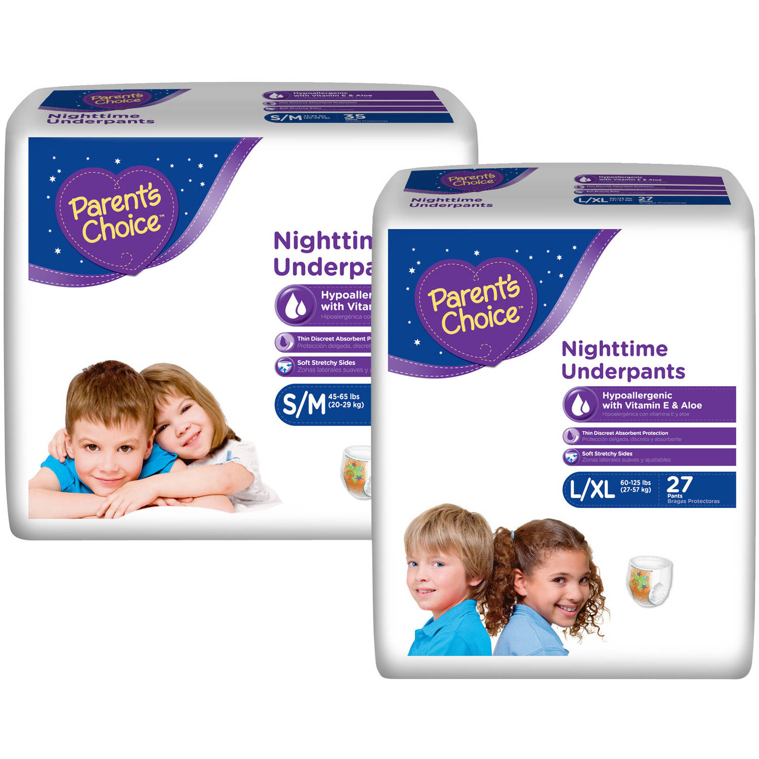 Parent's Choice Nighttime Underpants (Choose Your Size)