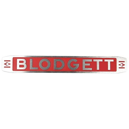 BLODGETT 11255 Nameplate, Blodgett Assembly by BLODGETT