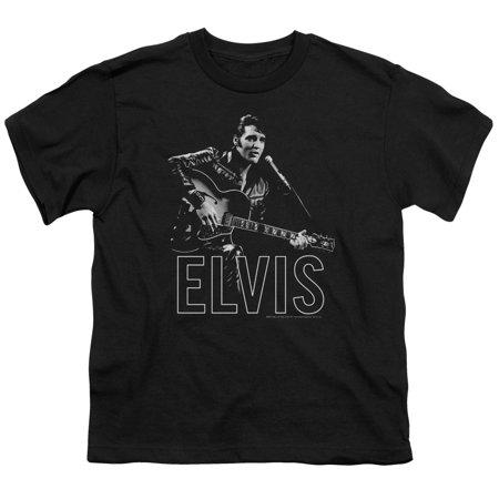 - Elvis Guitar In Hand Big Boys Youth Shirt