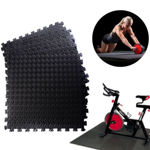 Protective Flooring for Gym Equipment and Cushion for Workouts,Waterproof wear-Resistant and Easy to clean-48 Square feet EVA Foam Interlocking Tiles U-Kiss Puzzle Exercise Mat