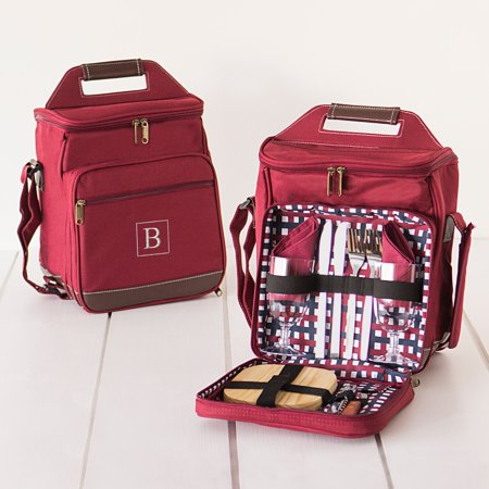 Personalized Red Picnic Cooler Set