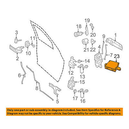 Ram CHRYSLER OEM 11-12 2500 Front Door-Electronic Control Module Left RL055299AK 2500 Engine Control Module