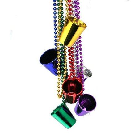 Mardi Gras Shot Glass Bead Necklaces](Shot Glass Necklaces)