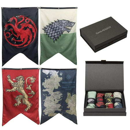 Game of Thrones 4 Banner Giftbox Set](Banner On The Cheap)