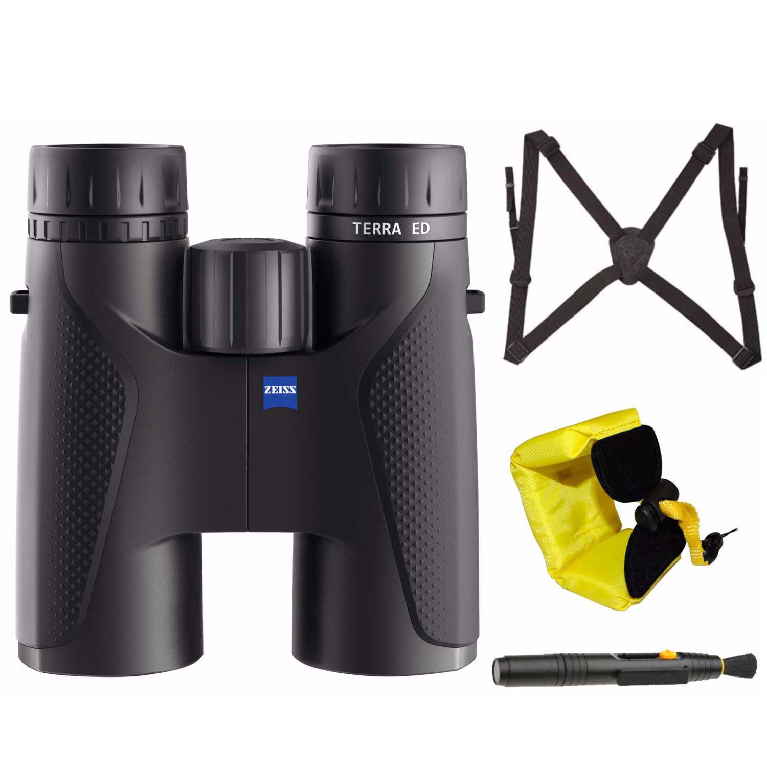 Zeiss Optical 10 x 42 Terra ED Binocular (Black) with Harness and Floating Strap by Carl Zeiss