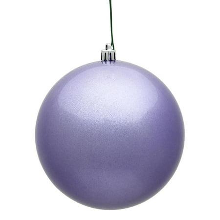 "Vickerman 394441 - 8"" Lavender Candy Ball Christmas Christmas Tree Ornament (N592036DCV)"
