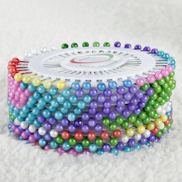 Meigar 480Pcs Pearl Ball Head Sewing Straight Pins