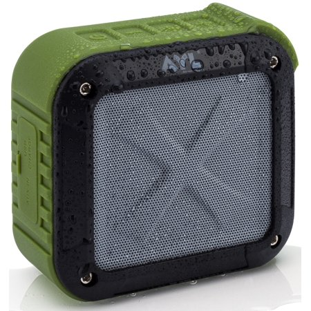 Portable Outdoor and Shower Bluetooth Speaker by AYL SoundFit, Waterproof, Wireless with 10 Hour Rechargeable Battery Life, Powerful 5W Audio Driver, Pairs with All Bluetooth
