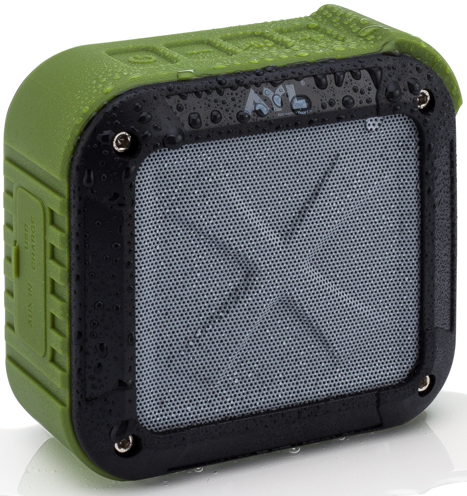 Best Portable Outdoor and Shower Bluetooth 4.0 Speaker by AYL SoundFit, Waterproof, Wireless with 10 Hour Rechargeable Battery Life