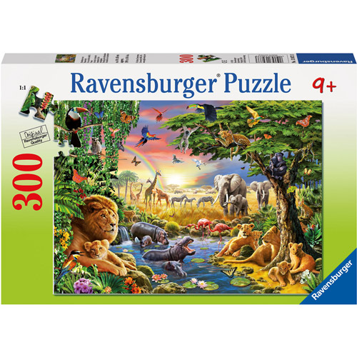 Ravensburger Evening at the Waterhole Puzzle, 300 Pieces by Ravensburger