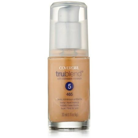 CoverGirl TruBlend Liquid Makeup Foundation, Tawny [465], 1 oz