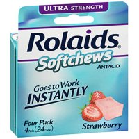 Rolaids Softchews Antacid Strawberry - 24 ct