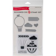 Echo Park We Are Family Die/Stamp Set Balloon