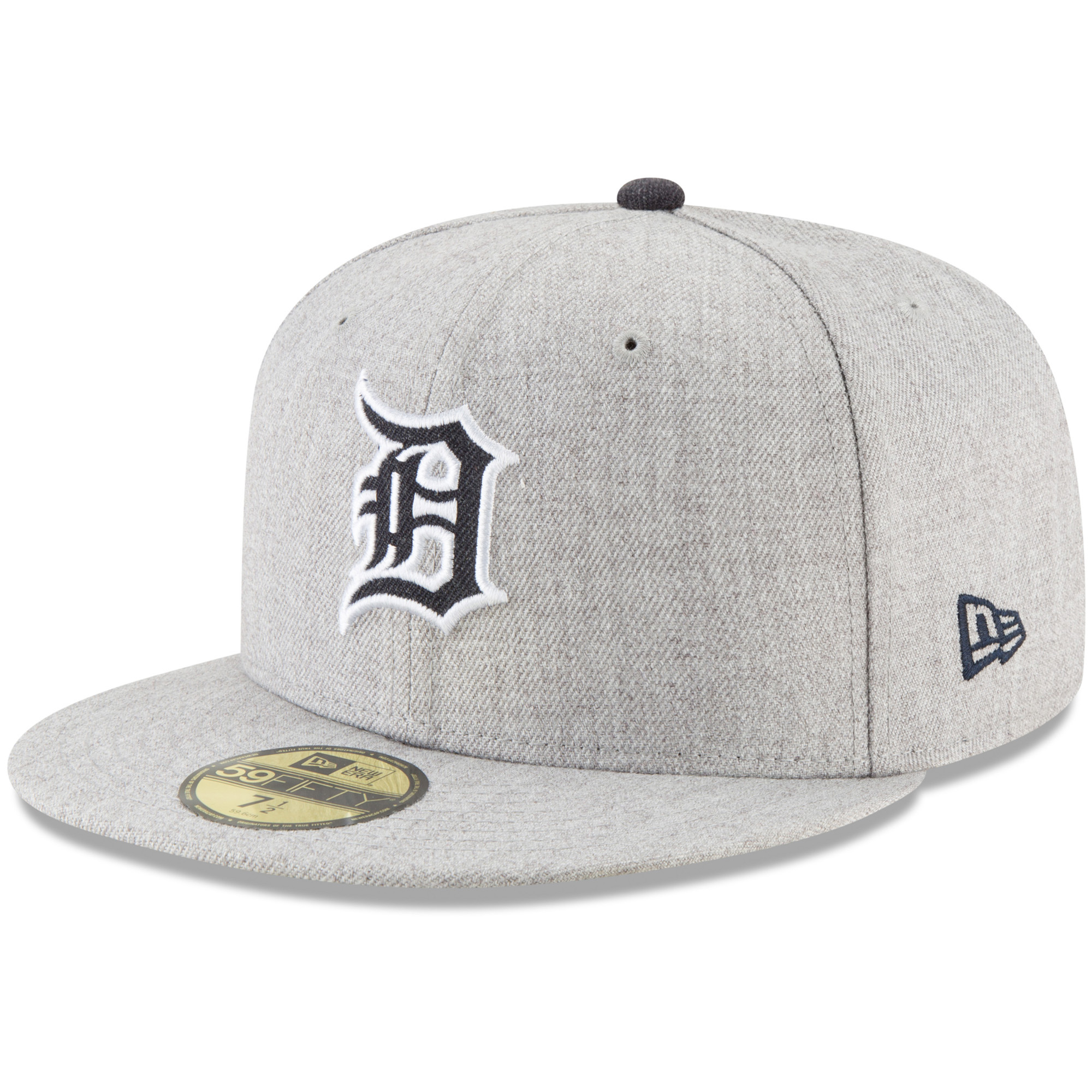 Detroit Tigers New Era Hype 59FIFTY Fitted Hat - Heathered Gray