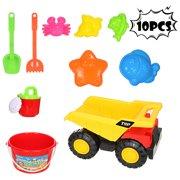 Iuhan 10pc Kids Beach Toys Set Molds Tools, Sandbox Toys On Summer Beach Holiday