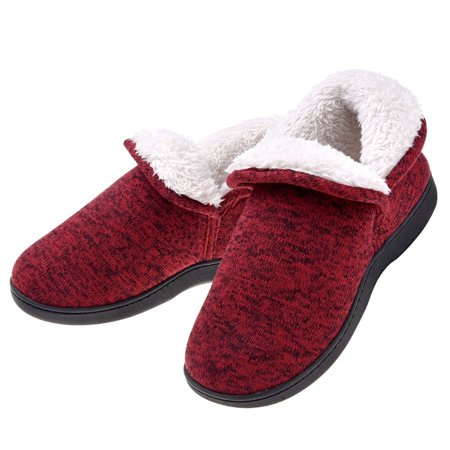 Cable Knit Booties - Women Warm Cotton Cable Knit Ankle High Slippers - Anti Skid Plush Fleece Indoor Outdoor Booties