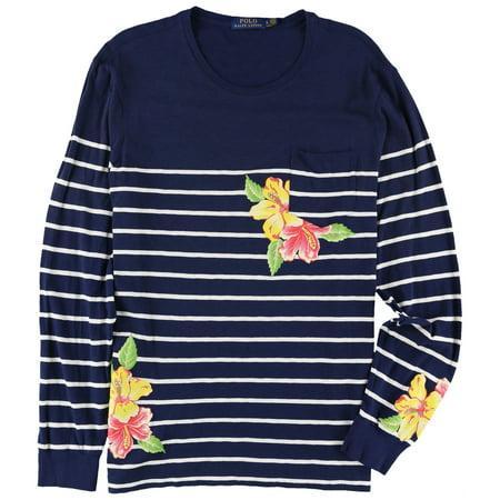 Ralph Lauren Mens Custom Slim Fit Striped Graphic T-Shirt