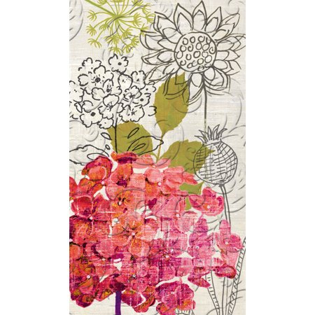 - Cypress Home Sketch Floral Embossed Paper Guest Towel, 15 count
