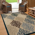 Orian Rugs Indoor Outdoor Circles Interlocking Wheels