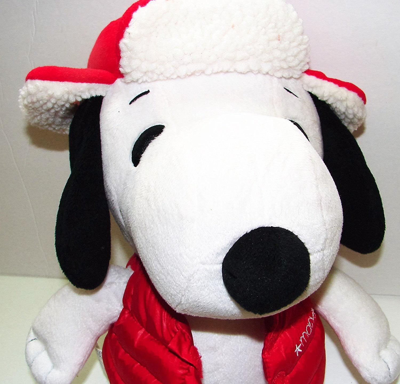 Jumbo Plush Snoopy Peanuts Beagle Dog Red Jacket 2015 Stuffed Animal