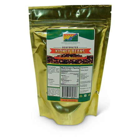 Dehydrated Kidney Beans, 2 full cup Mylar Bag