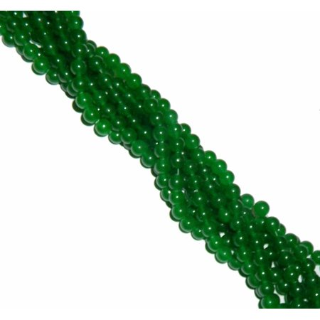 8mm Jade Dyed Malichite Green Round, Loose Beads, 40 cm 15 inch Gemstone