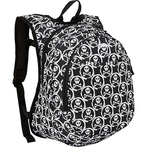 Obersee Kids Pre-School All-In-One Backpack With Cooler - Skulls