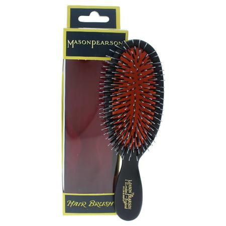 Mason Pearson Shaving Brush - Mason Pearson Pocket Bristle & Nylon Brush - BN4 Dark Ruby - 1 Pc Hair Brush