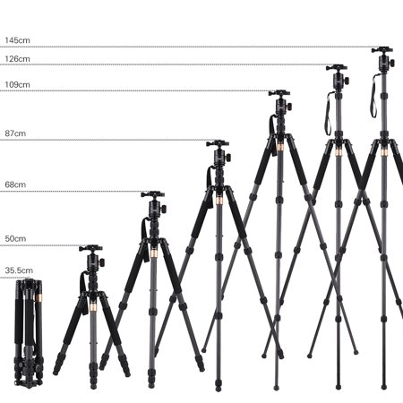 """Andoer TP-668SC Portable Carbon Fiber Tripod Photography Travel Tripod Monopod with Panoramic Ball Head 4-Section Max. Height 145cm 1/4"""" Screw Mount for Canon Nikon Sony DSLR/ILDC Cameras Max. Load 8k - image 4 of 7"""