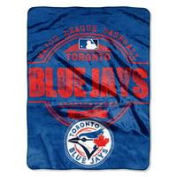 "Toronto Blue Jays The Northwest Company 46"" x 60"" Structure Micro Raschel Plush Blanket"
